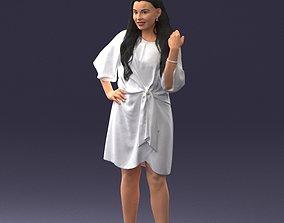 Fashion woman in evening dress 0714-15 3D Print Ready