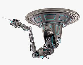 Robotic Arm 02 Ceiling Stylized 3D model