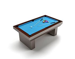 3D model Blue Billard Table
