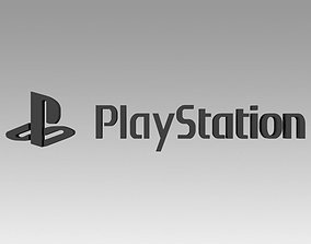 Playstation Video game logo 3D