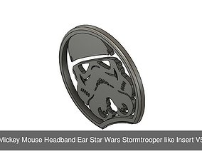 3D Mickey Mouse Headband slide on Star Wars Collection 2