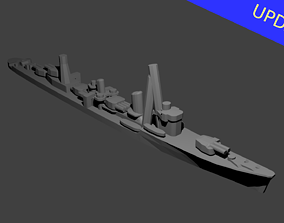 Japanese Asashio Class Destroyer 3D printable model 1