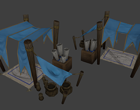 Stylized Hand Painted Shop 3D model