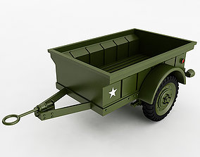 3D model Willys T3 Trailer
