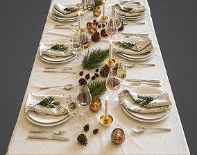 3D Christmas table setting spoon