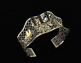 Gold bracelet 3D print model bracelets