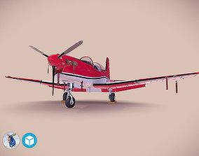 3D model Pilatus PC-7 Mk-I SAFRedWhite