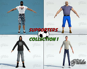 Supporters coll 1 3D asset