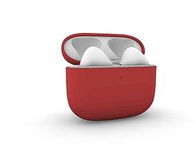 TWS Red Earphone Generation 3 3D printable model