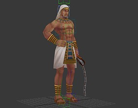 Egyptian supervisor 3D model