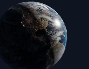 luna Earth 3D model low-poly
