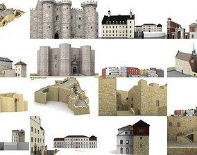 3D model 6x world famous castles