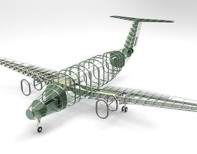 beechcraft king air b200 gt-structure 3D