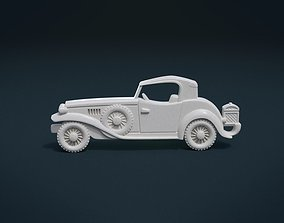 3D printable model Retro Car Relief