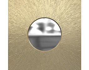 Brabbu huli rectangular brass mirror 3d model