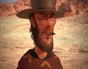 Clint Eastwood 3D caricature 3D print model