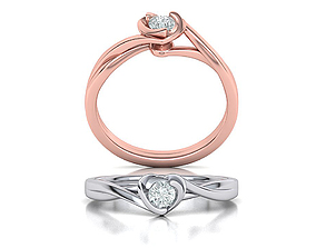 Brief Heart Confession Solitaire Engagement ring