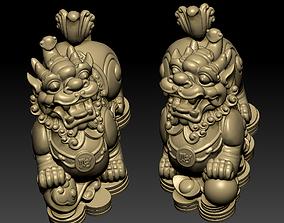 decorative 3D print model Guardian Lions
