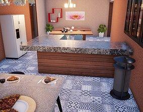 3D model Six Bedroom Residential