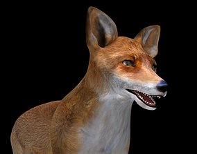Fox red 3D model low-poly