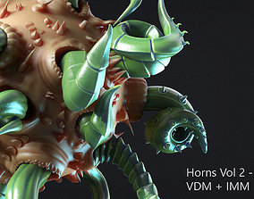 3D Zbrush - Horns Vol 2 - 25 VDM and IMM Brushes