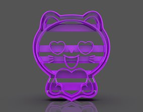 Cat in Love Cookie Cutter 3D printable model