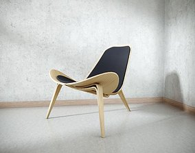 3D Classic Wood Chair