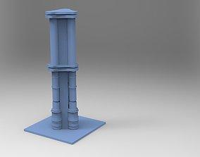 3D model Greek Pillar Unique