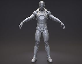 3D model Sci-fi Characters in an exo suit