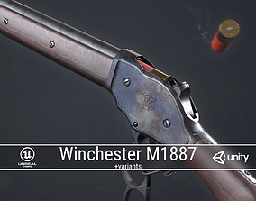 3D asset PBR Winchester Model 1887