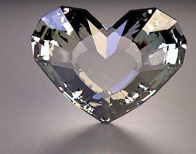 Low poly Heart diamond 3D model