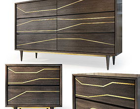 Granjeno Dresser bedside table by Brayden Studio 3D model