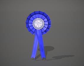 Birthday Boy Rosette Badge 3D asset