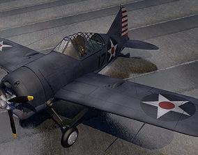 3D Brewster F2A-1 Buffalo