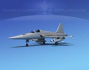 3D Northrop F-5E Tiger Bare Metal