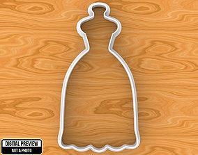 3D print model Wedding Dress Cookie Cutter house