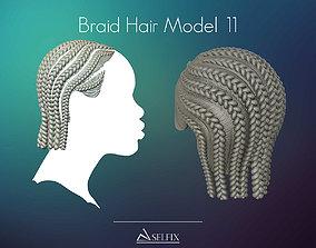 Braid Hairstyle 11 3D print model