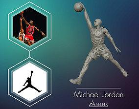 Michael Jordan Dunk Sculpture 3D print model