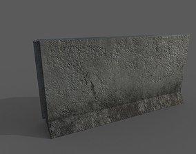 3D asset Concrete Barrier Type 1