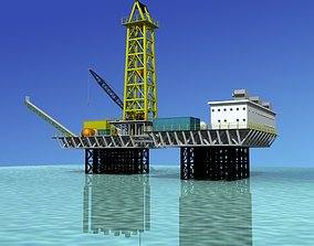 Offshore Oil Rig 3D model