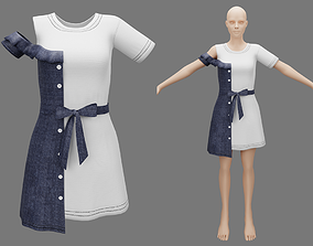 3D Woman fashion outfit v10