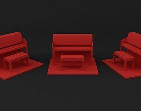Piano 3D printable model