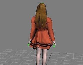 3D model ag3 sci-fi robot girl