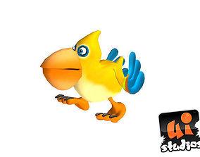 3D asset Toon Bird