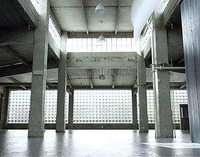 3D model Old Empty Garage