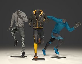 3D model Man mannequin Nike pack 3