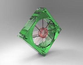 3D model Fan with Electrical Circuit Cooling