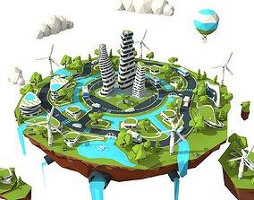 city lowpoly 3D model