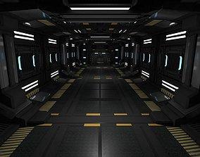 3D model Sci fi Corridor sci-fi