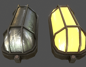 3D asset game-ready Wall Light - Game Ready